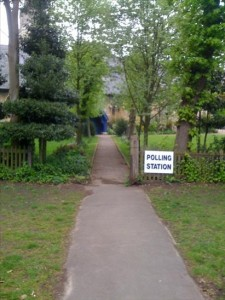 Polling station at Christ Church, Wanstead (Picture: Yenwodt)