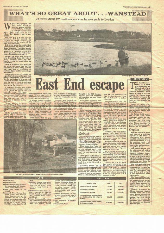 Evening Standard 1987